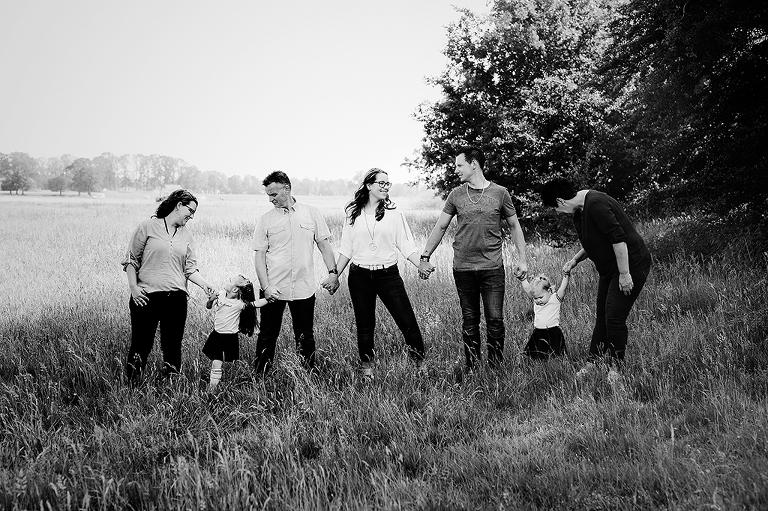 groepsfoto zwart wit