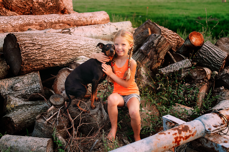 meisje met hond