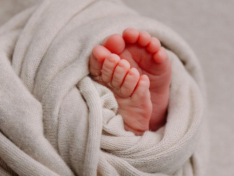 newborn voet