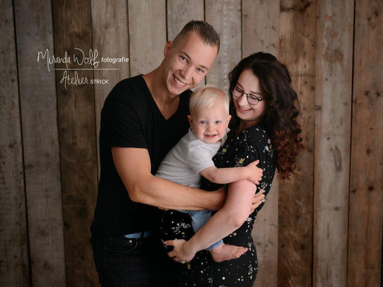 gezinsfoto zwanger